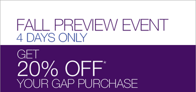 Fall Savings at GAP