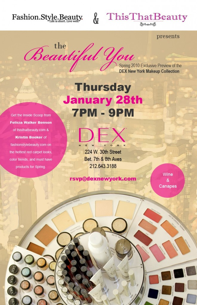 Join ThisThatBeauty and Fashion.Style.Beauty. at DEX NEW YORK