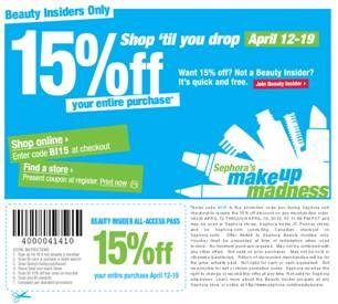 Save 15% at Sephora