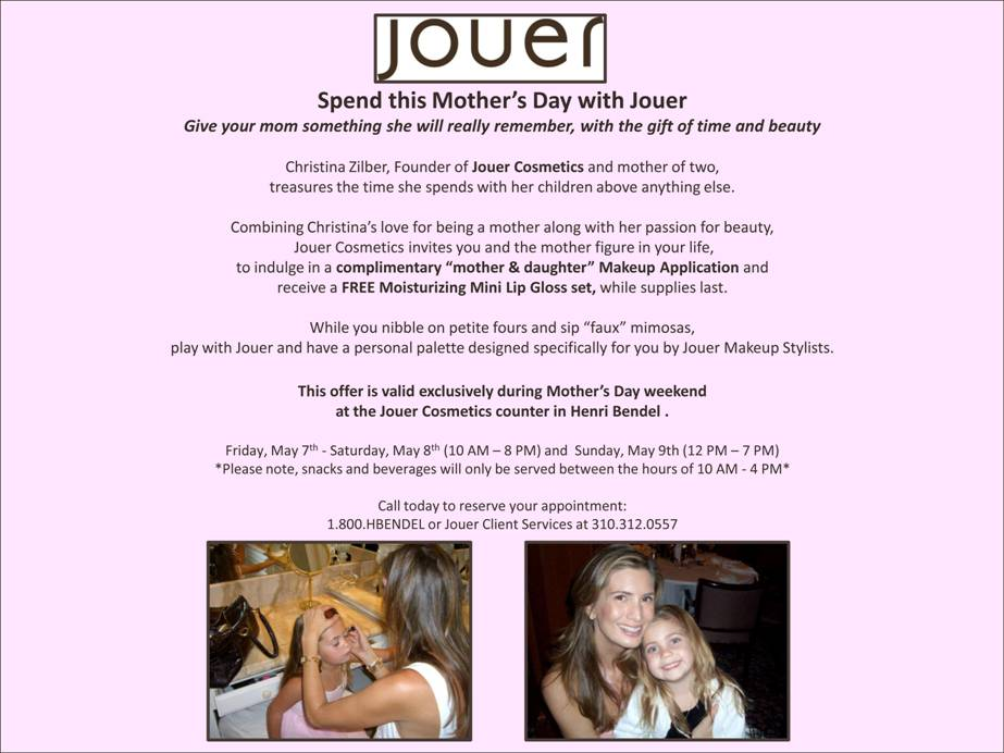 Mother's Day Gift Ideas: FREE Jouer and Henri Bendel Event