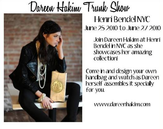 Dareen Hakim Trunk Show at Henri Bendel