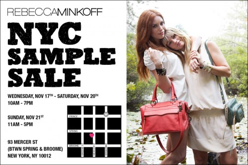 Shop & Save: REBECCA MINKOFF FALL 2010 Sample Sale!