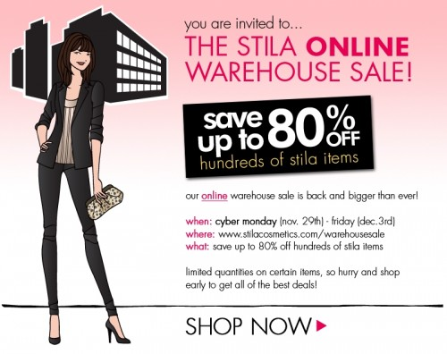 The One You've Been Waiting For: Stila Online Warehouse Sale