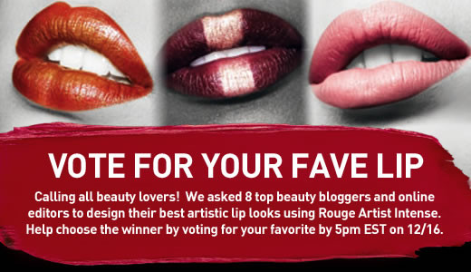 Cast Your Vote for Me! MAKE UP FOR EVER Lips to Love Contest
