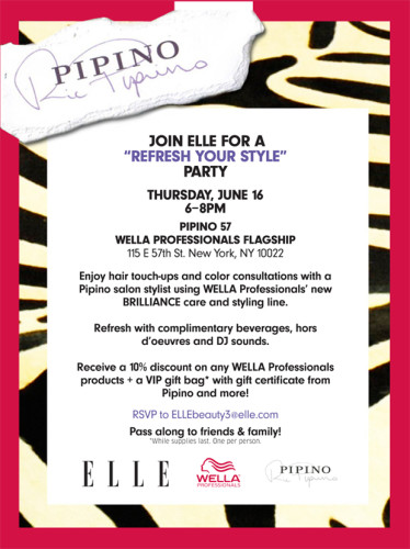 Party Over Here: ELLE Magazine and Wella Present…