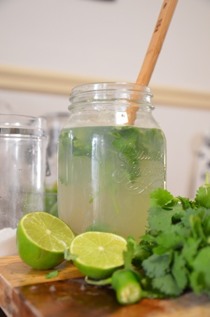 Cilantro and Jalapeno Limeade