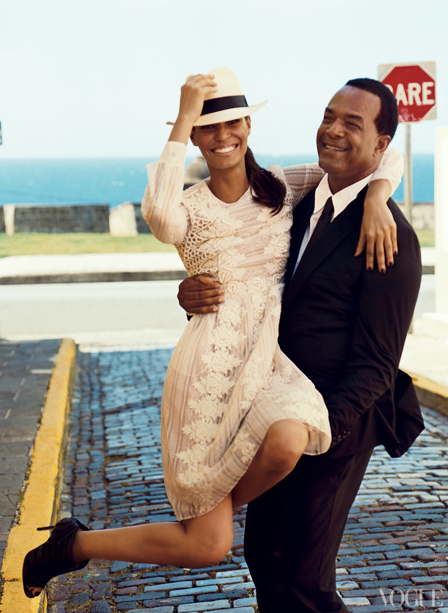 Joan Smalls and Father